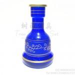 大号阿拉伯水烟瓶红色蓝色