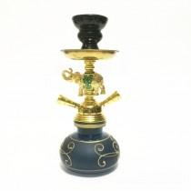 小号双管大象锌合金饰品阿拉伯水烟壶