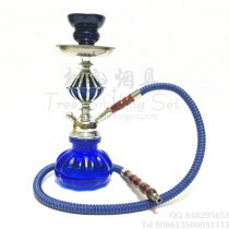 小号单管阿拉伯水烟壶蓝色