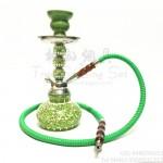 小号单管阿拉伯水烟壶碎花瓶蕾丝绿色