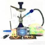 阿拉伯水烟壶小号锌合金 单管 蓝色 全套