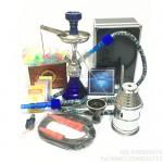 阿拉伯水烟壶小号锌合金带灯或外置灯可变单管双管水烟壶-新手晋级套餐