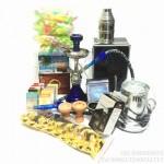 阿拉伯水烟壶小号锌合金带灯或外置灯可变单管双管水烟壶-豪华专家套餐