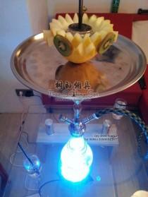 用水果做的水烟烟碗还有带灯的阿拉伯水烟壶