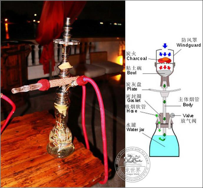 阿拉伯水烟的结构,原理,出烟图片解析 来告诉你多管单管的好坏