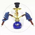 阿拉伯水烟小号双管骆驼壶-蓝