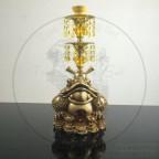 黄金甲 金钱蟾蜍 双管阿拉伯水烟壶