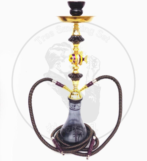 阿拉伯水烟壶双管中号双人用两嘴全套水烟壶