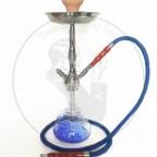 中号全锌合金阿拉伯水烟壶卡扣银杆材质 蓝