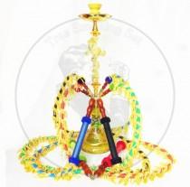 高档锌合金大号十字架与蛇四管阿拉伯水烟壶