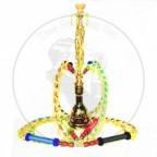 锌合金大号狮子王四管阿拉伯水烟壶