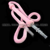 粉色毛绒烟管