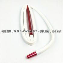 白色红手柄硅胶烟管