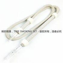 双手柄纯白烟管