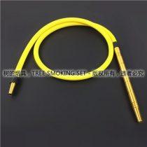 金色直通铝合金阿拉伯水烟管